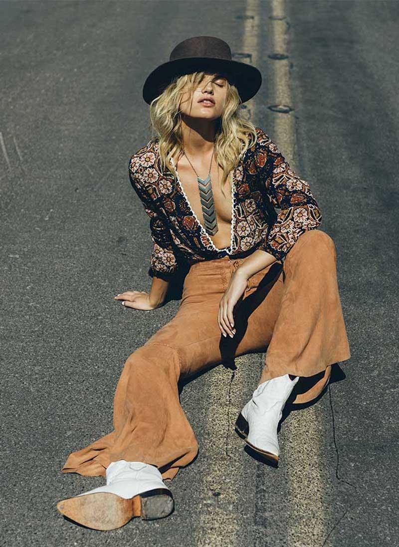 "Free Spirited Bohemian Outfits In Cleobella ""Karmic Oasis"" lookbook 2020"