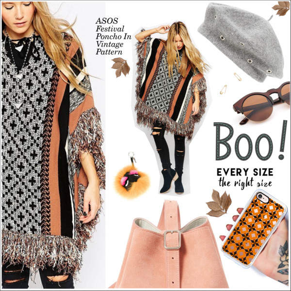 Women In 30 Can Try Following Poncho Outfit Ideas