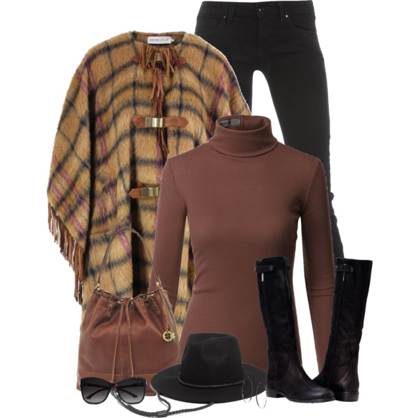 Poncho Outfit Ideas For Women Over 50