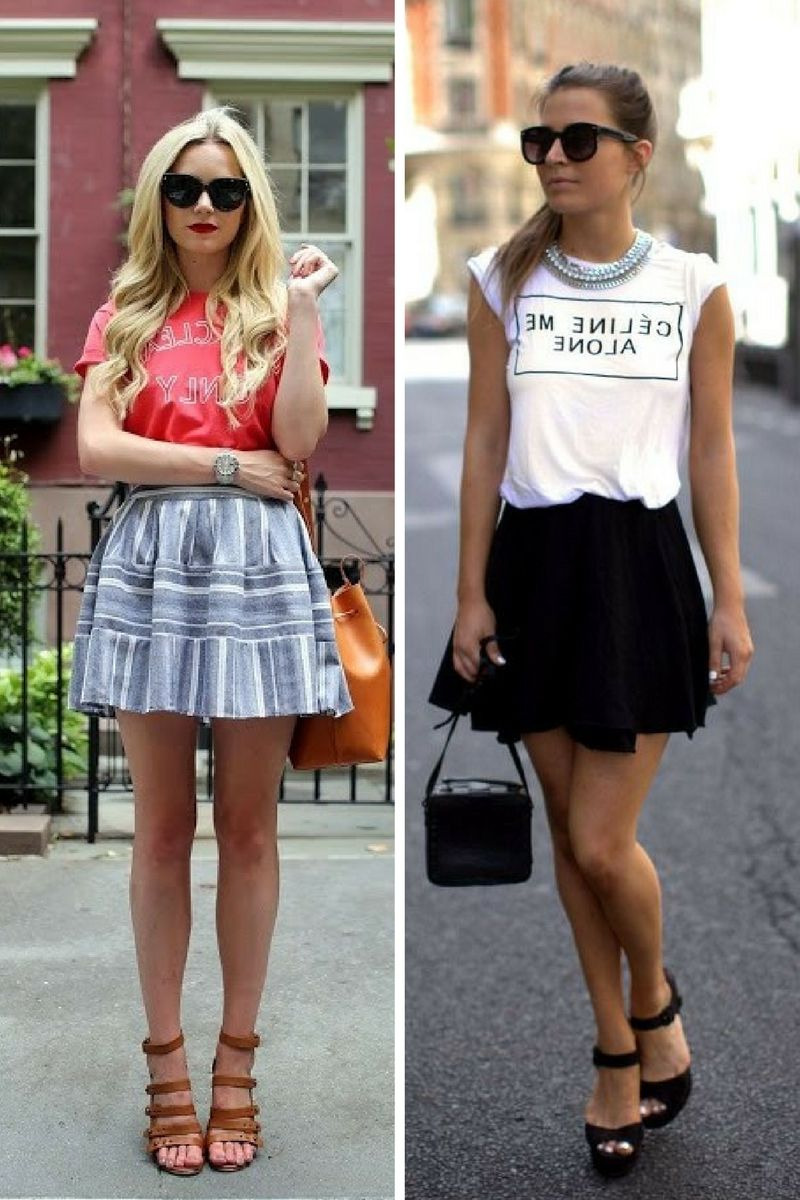 Tops to Wear with Skater Skirts 2018