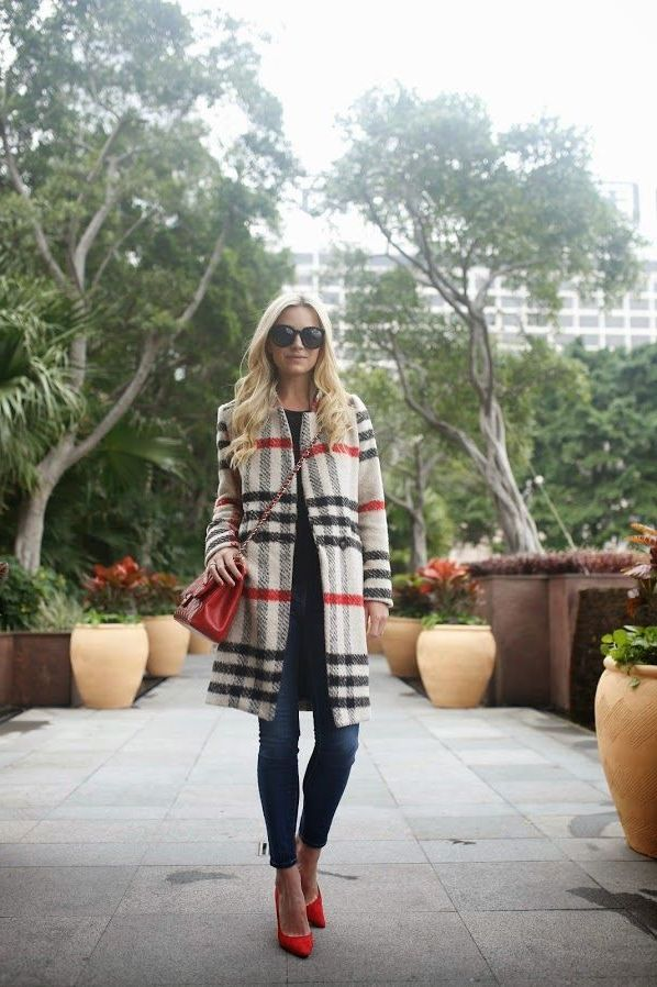 How To Wear Plaid Coats This Winter 2019